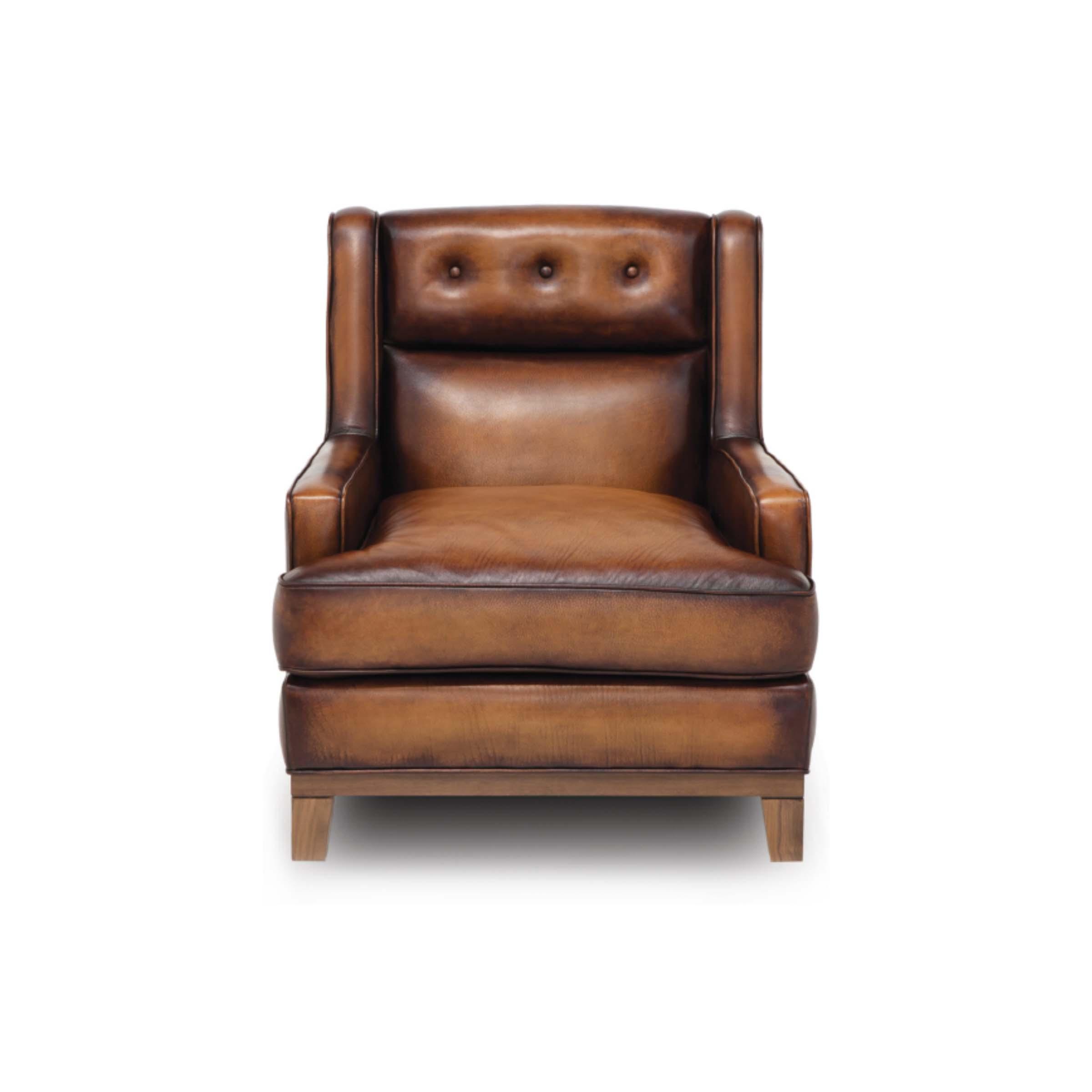 SEVILLA - 1E Accent Chair Maestro Artisano Saddle